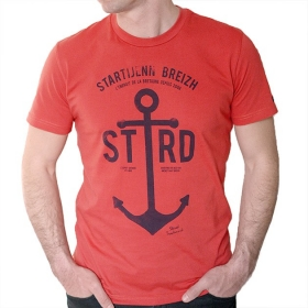 T-shirt Ancre Marine - Rouge