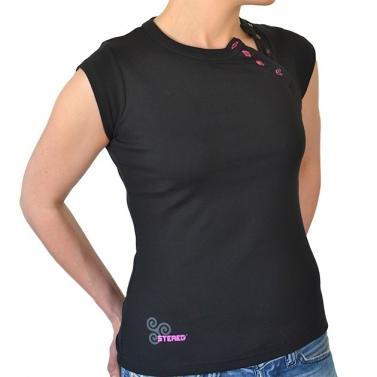 T-shirt Boutonnière Noir -...
