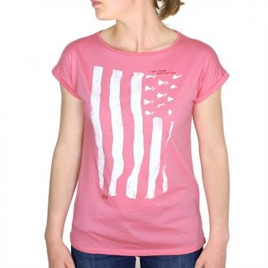 T-shirt Drapeau Breton - Rose