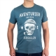 T-shirt col V Ancre plomb