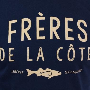 T-shirt Debout les gars ! bleu nuit