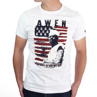T-shirt Awen Drapeau - Blanc