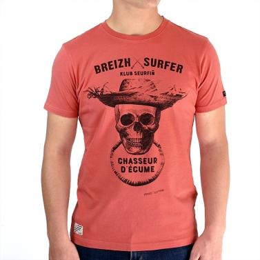T-shirt Breizh Surfer - Corail