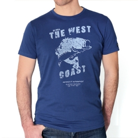 T-shirt West Coast - Bleu nuit