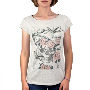 T-shirt C. fleuri - Chiné