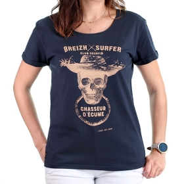 T-shirt Breizh Surfer - Marine