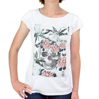 T-shirt C. fleuri - Blanc