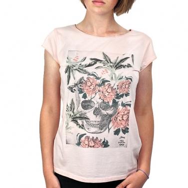 T-shirt C. fleuri - Pêche