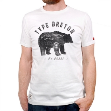 T-shirt Type Breton - Ecru