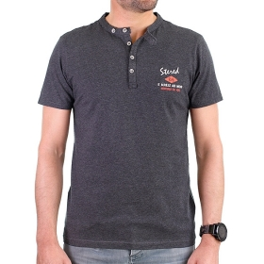T-shirt col boutonné EKM -...