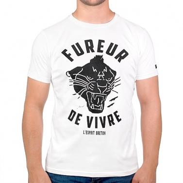 T-shirt Fureur de Vivre - Écru