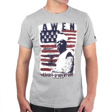 T-shirt Awen Drapeau - Gris...