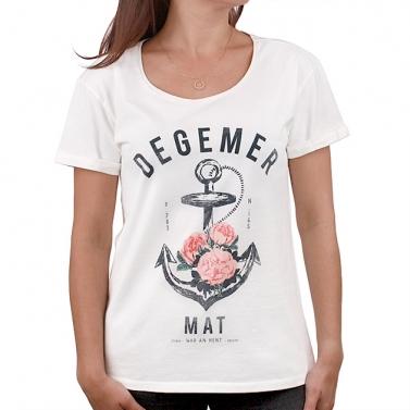 T-shirt Degemer Mat - Ecru