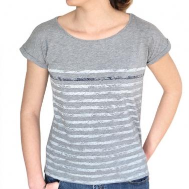 T-shirt Rayures - Gris chiné