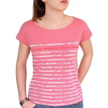 T-shirt Rayures - Rose