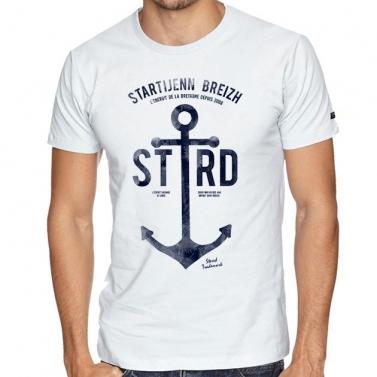 T-shirt Ancre Marine - Blanc