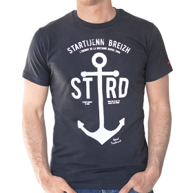 T-shirt Ancre Marine - Gris...