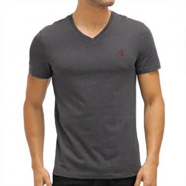 T-shirt Col V Ancre Brodée...
