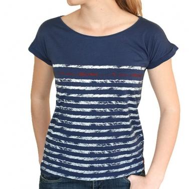 T-shirt Rayures - Bleu Nuit